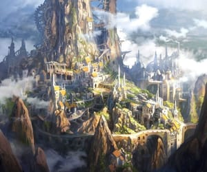 art, fantasy, and paintings image