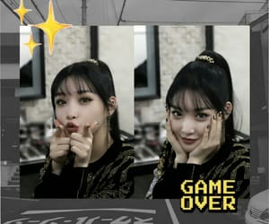 black, chungha, and Collage image