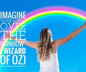 easel, rainbow, and Wizard of oz image