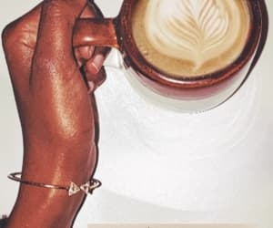 coffee, girl, and darkskin image