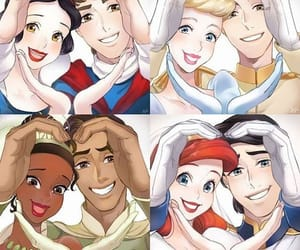 aladdin, couple, and snow white image