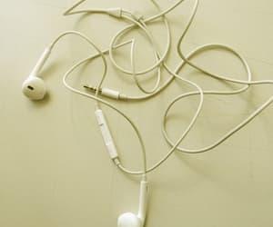 earphones, headphones, and yellow image