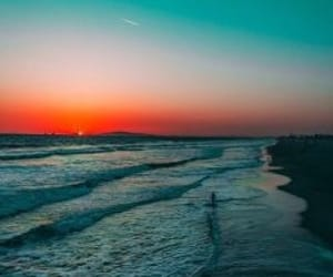 adventure, beach, and sunset image