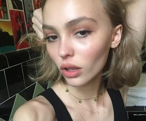 model, lily rose depp, and instagram image