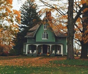 dream house, forest, and fall image