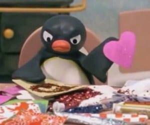 meme, reaction, and penguin image