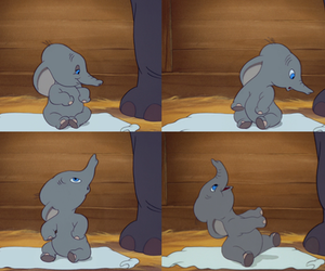 baby, disney, and elephant image