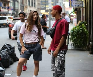 colored hair, new york, and skate image