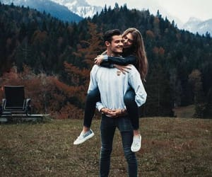 couple, lové, and forest image