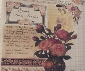 flowers, vintage, and journal image