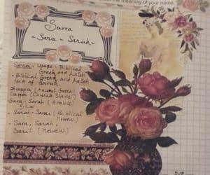 flowers, journal, and sara image