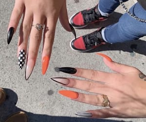 aesthetic, nails, and black image