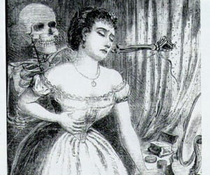 creepy, victorian, and lady image