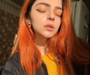 cabelo, colored hair, and laranja image