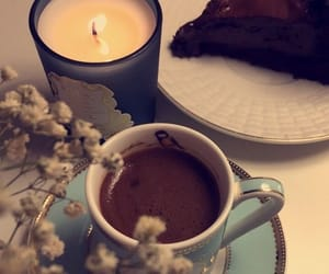 cake, ☕, and candle image
