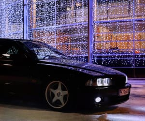 black, car, and christmas lights image