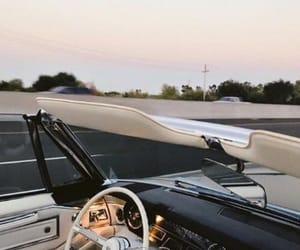 car, wanderlust, and sunset image