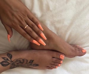 nails, tattoo, and goals image
