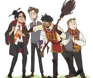 gryffindor, illustration, and remus lupin image
