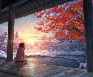 fantasy, girl, and lake image