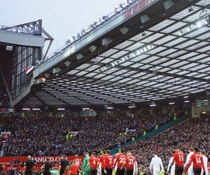 football, manchester, and old trafford image