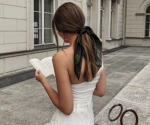 fashion, girl, and book image
