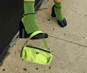green, fashion, and Prada image