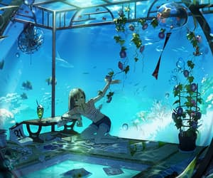 anime, plants, and sea image