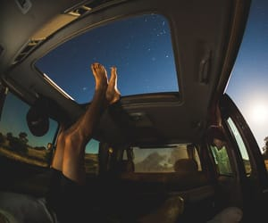 stars, car, and sky image