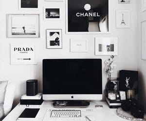 computer, black, and decor image