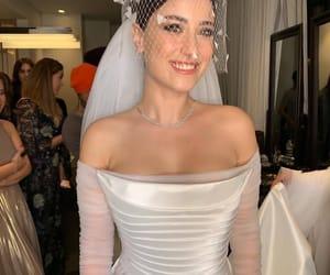 bride, dress, and mesh image