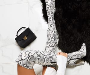 heels, high heels, and snake skin image