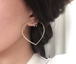 earrings, heart, and aesthetic image