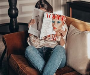 girl, fashion, and magazine image