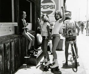 girls, vintage, and black and white image