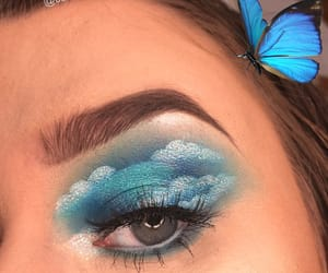 artist, eye makeup, and eyeshadow image