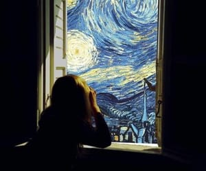 art, window, and van gogh image