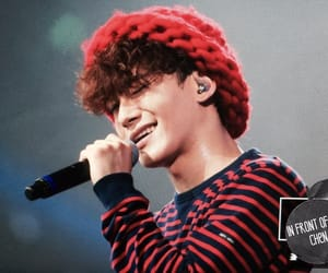 Chen, exo, and curly hair image