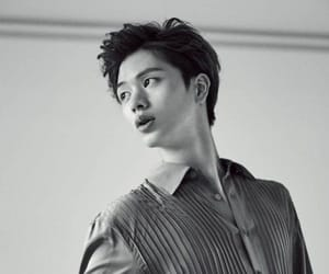 black and white, btob, and 육성재 image