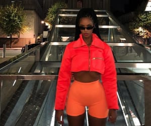 fashion, model, and neon image