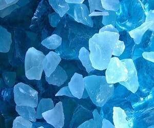blue, aesthetic, and crystal image