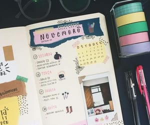 journal, school, and bujo image