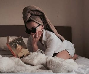 girl, book, and aesthetic image