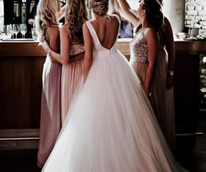 wedding, bride, and girls image