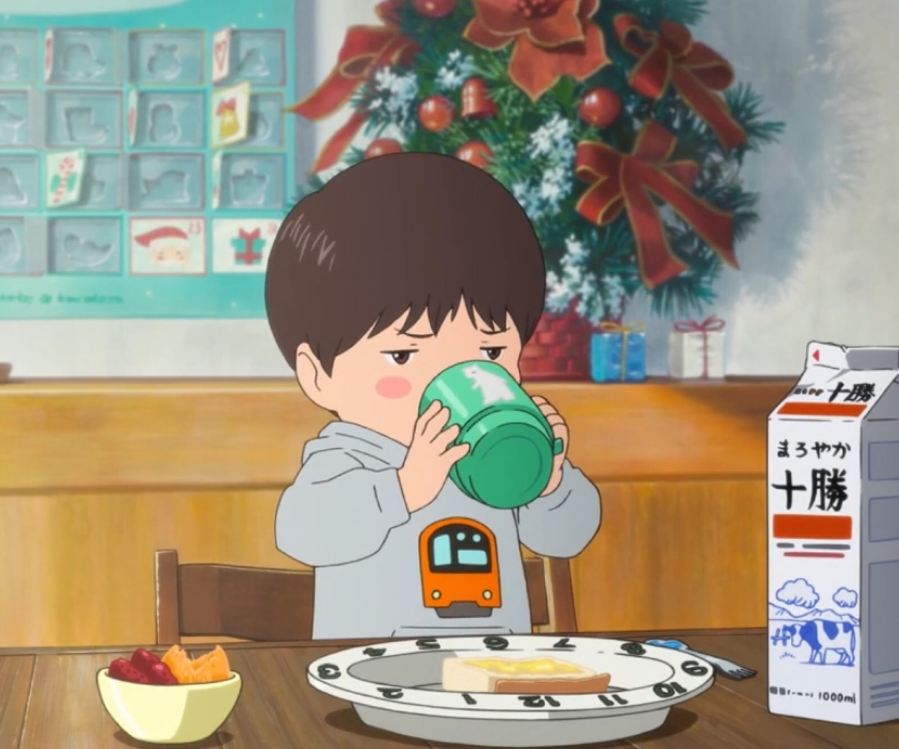 anime, cartoon, and sips tea image