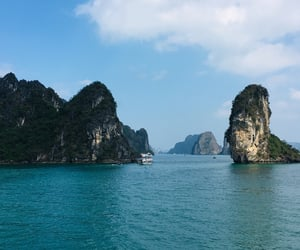 asia, beautiful, and halong bay image