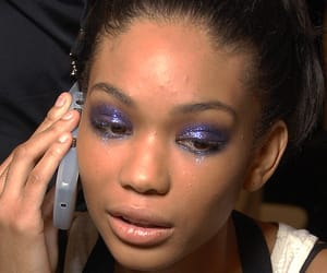 runway, Anna Sui, and Chanel Iman image