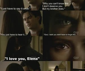 delena, love, and the vampire diaries image