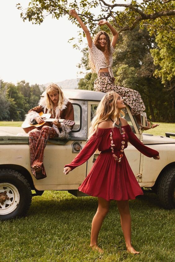 car, freedom, and hippies image