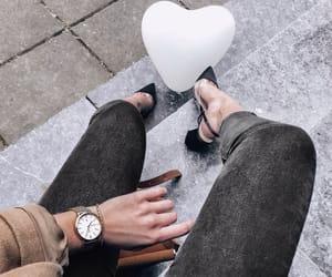 city, fashion, and hearts image